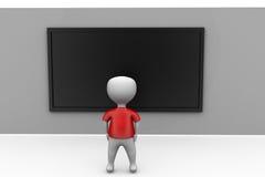 3d man black board concept Stock Photo