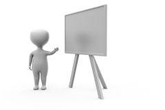 3d man with black board concept Royalty Free Stock Photography