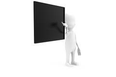 3d man black board concept Stock Image