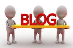 3d man blog concept Stock Photos