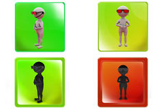 3d Man bodyguard concept icon Royalty Free Stock Photos