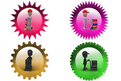 3d man book handtrack icon Royalty Free Stock Images