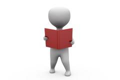 3d man book read concept Stock Photo