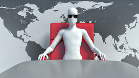 3d man boss Royalty Free Stock Images