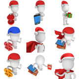 3d man brave superhero santa Stock Photos
