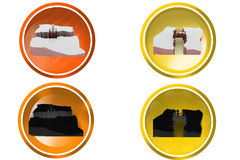 3d man bridge on crack icon Royalty Free Stock Images