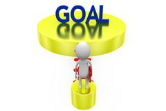 3d man bridge of goal concept Stock Photo