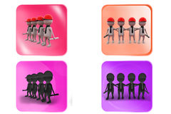 3d man builder team icon Stock Images