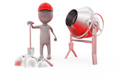 3d man building worker concept Stock Images