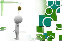 3d character bulb illustration Stock Photos