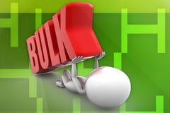 3d man bulk concept Stock Images