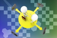 3d man business agreement illustration Stock Photography