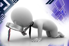 3d man business analyzes success illustration Royalty Free Stock Images