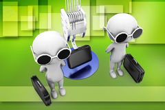 3d man business briefcase Royalty Free Stock Images