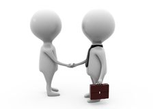 3d man business handshake concept Stock Photography