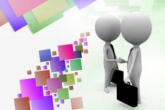 3d man business handshake illustration Royalty Free Stock Images