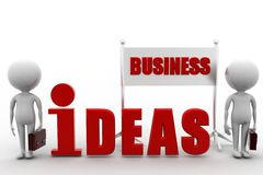 3d man business ideas Royalty Free Stock Images