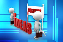 3d man business ideas Stock Photos