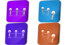 3d Man business Man boss concept icon Stock Image