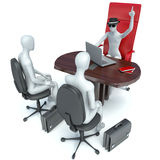 3d man, business meeting, job interview Royalty Free Stock Images