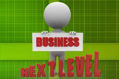 3d man business next level illustration Stock Photography