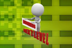 3d man business next level illustration Royalty Free Stock Photo