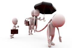 3d man business slave concept Stock Image