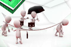 3d man business slave illustration Royalty Free Stock Images