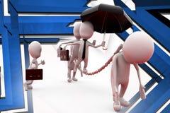 3d man business slave illustration Stock Image