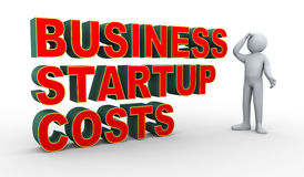 3d man business startup costs confusion Royalty Free Stock Photo