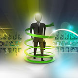 3d man business success concept. In color background Stock Images
