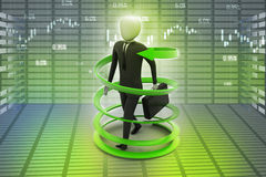 3d man business success concept. In color background Royalty Free Stock Images