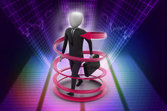 3d man business success concept. In color background Stock Photo