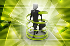 3d man business success concept. In color background Royalty Free Stock Image
