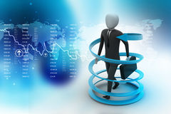 3d man business success concept. In color background Stock Image