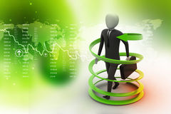 3d man business success concept. In color background Royalty Free Stock Photos