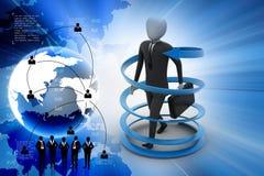 3d man business success concept Stock Images