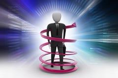 3d man business success concept. 3d illustration of man business success concept Stock Photos
