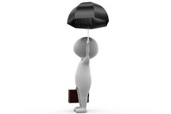 3d man business umbrella concept Royalty Free Stock Photos