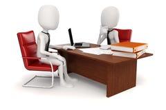 3d man businessman. Business scene Stock Photos