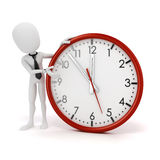 3d man businessman and clock Royalty Free Stock Images