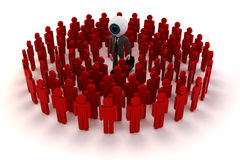 3d man businessman and crowd Stock Image