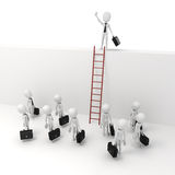 3d man businessman leader, business metaphor.  Royalty Free Stock Image