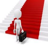 3d man businessman and red carpet Stock Photos