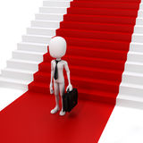 3d man businessman and red carpet Stock Images