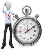 3d man businessman with stopwatch Stock Photo