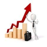 3d man businessman, success in business concept Stock Photo