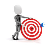 3d man businessman with target and arrows Stock Photos
