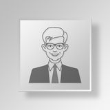 3D Man Button Icon Concept Royalty Free Stock Images