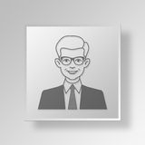3D Man Button Icon Concept Royalty Free Stock Photography